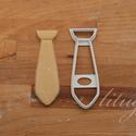 Nyakkendő süteménykiszúró forma, Konyhafelszerelés, Mókás, nyakkendőt formázó sütemény kiszúró / szaggató forma.   Kb. 11 cm magas x 4 cm széles.  A kép..., Meska