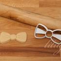 Masni vagy csokornyakkendő süteménykiszúró forma, Konyhafelszerelés, Masnit vagy csokornyakkendőt formázó sütemény kiszúró / szaggató forma.   4 cm magas x 8 cm széles. ..., Meska