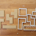 Tetris - 5 db sütemény kiszúró, keksz forma szettben, Konyhafelszerelés, Baba-mama-gyerek, Tetris játékot idéző geometriai formákat tartalmazó sütemény kiszúró / szaggató, keksz forma szett. ..., Meska