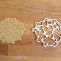 Állatos sütemény, keksz kiszúró forma - Katica, katica bogár, Konyhafelszerelés, Baba-mama-gyerek, Fotó, grafika, rajz, illusztráció, Mindenmás, Állatos sorozatunk következő tagja: katicát formázó sütemény kiszúrót / szaggatót készítettünk, nag..., Meska