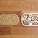 Star Wars felirat, keksz, linzer, sütemény kiszúró forma, Konyhafelszerelés, Férfiaknak, Konyhafőnök kellékei, Fotó, grafika, rajz, illusztráció, Mindenmás, Star Wars süti, sütemény, keksz, SW linzer kiszúró, szaggató forma  Star Wars party-hoz, bulihoz sz..., Meska