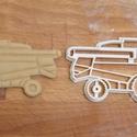 Kombájn sütemény linzer keksz kiszúró forma - Járművek, Konyhafelszerelés, Baba-mama-gyerek, Fotó, grafika, rajz, illusztráció, Mindenmás, Járműves sorozatunk következő tagja: kombájnt, aratógépet formázó sütemény kiszúró / szaggató forma..., Meska