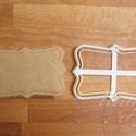 Vintage tábla (1) sütemény keksz linzer kiszúró forma, Konyhafelszerelés, Íves szélű, vintage táblácskát formázó sütemény kiszúró / szaggató, keksz, linzer forma.  Bármit író..., Meska