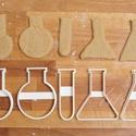 Lombik / kémcső sütemény kiszúró forma, Kémcső és lombik alakú sütemény kiszúró / ...