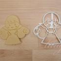 Angyalka sütemény linzer keksz kiszúró forma - mézeskalács forma, Konyhafelszerelés, Karácsonyi, adventi apróságok, Fotó, grafika, rajz, illusztráció, Mindenmás, Angyal formájú, angyalka sütemény forma  Kislányoknak szeretnék örömet okozni ezzel az angyalka  fo..., Meska