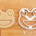 Béka, breki  - Állatfej sütemény kiszúró, kekszforma, linzer, Konyhafelszerelés, Baba-mama-gyerek, Fotó, grafika, rajz, illusztráció, Mindenmás, Állatos keksz kiszúró sorozatunk következő tagja: most aranyos állatfejeket formázó sütemény/keksz ..., Meska