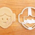 Star Wars - Leia hercegnő alakú sütemény kiszúró forma, Konyhafelszerelés, Férfiaknak, Konyhafőnök kellékei, Fotó, grafika, rajz, illusztráció, Mindenmás, Leia hercegnőt  stilizáló sütemény kiszúrót is kellett készítenünk :)    Kb. 8,5 cm magas x 8,5 cm ..., Meska