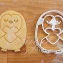 Szerelmes PINGVIN - Szerelem, szeretet, egyedi esküvői sütemény kiszúró Valentin napra, Esküvő, Konyhafelszerelés, Szerelmeseknek, Egy kis szívet tartó pingvin süteménykiszúrót készítettünk, a szerelem, szeretet jegyében ..., Meska