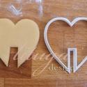 SZÍV Bögrére biggyeszthető - Szerelem, szeretet, egyedi esküvői sütemény kiszúró Valentin napra, Esküvő, Konyhafelszerelés, Valentin napra, Érzelmeidet fejezd ki sütikkel (is) ;-)  Bögrére akasztható szív alakú sütemény kiszúrót ..., Meska