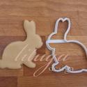Nyúl, nyuszi körvonal - Húsvéti sütemény linzer keksz kiszúró forma, Konyhafelszerelés, Fotó, grafika, rajz, illusztráció, Mindenmás, Húsvétra készült nyuszi alakú sütemény kiszúró / szaggató forma, amely kb. 7 cm magas.    Igény ese..., Meska