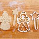 Tündér süteménykiszúró, tündérke sütemény linzer keksz kiszúró forma - mézeskalács forma, Konyhafelszerelés, Karácsonyi, adventi apróságok, Tündér formájú, angyalka sütemény forma varázspálcával :) saját rajzunk alapján készítettük.  Kislán..., Meska