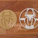 Pókember spiderman (round) logo sütemény keksz linzer kiszúró forma, Konyhafelszerelés, Baba-mama-gyerek, Fotó, grafika, rajz, illusztráció, Mindenmás, Spiderman / Pókember logóját formázó sütemény kiszúró forma, linzer, keksz, marcipán, fondant szagg..., Meska
