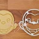 George a bajkeverő majom sütemény kiszúró formaa, mézeskalács forma, linzer, keksz kiszúró, Konyhafelszerelés, Baba-mama-gyerek, Fotó, grafika, rajz, illusztráció, Mindenmás, George, a bajkeverő majom formájú mézeskalács, keksz, linzer sütemény kiszúró / szaggató forma.   G..., Meska