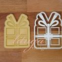 Ajándék, doboz sütemény linzer keksz kiszúró forma - karácsony mézeskalács, Konyhafelszerelés, Fotó, grafika, rajz, illusztráció, Mindenmás, Ajándék doboz alakú sütemény keksz linzer mézeskalács forma masnival   A közelgő télre és téli ünne..., Meska