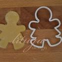 12,5 cm-es mézeskalács lány sütemény linzer keksz kiszúró forma - csak körvonal, Konyhafelszerelés, Fotó, grafika, rajz, illusztráció, Mindenmás, 12,,5 cm magas szoknyás (!) mézeskalács emberke kiszúró formát készítettünk - csak körvonal.   Ideá..., Meska