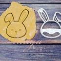 Húsvéti nyúl, nyuszifej süteménykiszúró, Konyhafelszerelés, Baba-mama-gyerek, Bájos nyuszi, nyúl fej sütemény, keksz, linzer kiszúró forma, a közelgő húsvét alkalmából készítettü..., Meska
