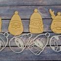 4db-os karácsonyi szett: Rénszarvas, Télapó, Pingvin és Hóember sütemény mézeskalács linzer keksz kiszúró forma, Konyhafelszerelés, Dekoráció, Ünnepi dekoráció, Karácsonyi, adventi apróságok, Fotó, grafika, rajz, illusztráció, Mindenmás, Ezzel az új négy darabos szettel várjuk a közelgő ünnepeket! Rénszarvas, Télapó, kis pingvin és hóe..., Meska