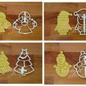 AKCIÓ 4db-os karácsonyi szett 1: Angyalka, Télapó, fenyőfa és Hóember sütemény mézeskalács linzer keksz kiszúró forma, Konyhafelszerelés, Dekoráció, Ünnepi dekoráció, Karácsonyi, adventi apróságok, Fotó, grafika, rajz, illusztráció, Mindenmás, Ezek a formák egyenként is kaphatóak boltunkban, de szerettük volna kedvezőbb áron kínálni azon vás..., Meska