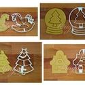 AKCIÓ 4db-os karácsonyi szett 6: hintaló, hógömb,  fenyőfa és mézes házi sütemény mézeskalács linzer keksz kiszúró forma, Konyhafelszerelés, Dekoráció, Ünnepi dekoráció, Karácsonyi, adventi apróságok, Ezek a formák egyenként is kaphatóak boltunkban, de szerettük volna kedvezőbb áron kínálni a..., Meska