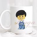 Bögre fiúknak (LEGO001) - Névreszólóan, egyedi felirattal kérhető, ajándék ovis ballagásra