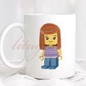 Bögre lányoknak (LEGO004) - Névreszólóan, egyedi felirattal kérhető