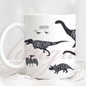 Dinoszaurusz bögre - Vagány dínós bögre (DINO01), Egyedi dínós bögre a dinoszauruszok kedvelőine...