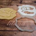 Dinoszaurusz koponya süteménykiszúró forma - Dínó koponya süti forma, dínó koponya linzer, keksz forma (1.), Konyhafelszerelés, Baba-mama-gyerek, Dínós sorozatunk következő tagja:   dinoszaurusz koponyát formázó sütemény kiszúrót / szaggatót kész..., Meska