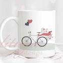 Romantikus bringás (csajos) bögre - Ajándék ötlet kerékpáros, bringás nőnek (RIDE03), Konyhafelszerelés, Anyák napja, Bögre, csésze, Romantikus bringás (csajos) bögre - Ajándék ötlet kerékpáros, bringás nőknek  A grafika a bögre mind..., Meska