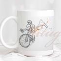 Modern bringás bögre - Ajándék ötlet kerékpáros, bringás férfinak (RIDE02), Konyhafelszerelés, Férfiaknak, Bögre, csésze, Bringás kiegészítők, Modern kerékpáros (pasis) bögre - Ajándék ötlet kerékpáros, bringás férfinak  A grafika a bögre mind..., Meska
