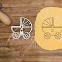 Babakocsi -  Babaváró egyedi sütemény kiszúró forma, Különleges, egyedi babaváró, kisbaba érkezés...