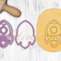 Rakéta süteménykiszúró forma (2020) - Járművek, Rakéta, űrhajó, űrhajós keksz, linzer, sütemény, mézeskalács szaggató, Űrhajó kekszkiszúró, sütikiszúró, mézeskal...