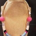 Simple Summer nyaklánc , Ékszer, Nyaklánc, Ékszerkészítés,  Egy egyszerűbb, de mégis színes, nyárias láncot álmodtam meg. ????☀️  Viaszolt,és fényes szteccs z..., Meska