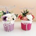 Anyák napi romantikus kaspó örökvirággal, Anyák napjára készültek az alábbi kedves kis ...