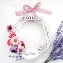 Romantikus ajtódísz saját család névvel , Selyemvirágokkal díszítettük ezt a romantikus,...