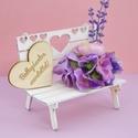 Ballagási ajándék ballagóknak, Fából készült mini pad, mely kedves ballagási...