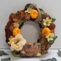 """Őszi ajtódísz """"Helló ősz"""" táblával, Íme egy őszi hangulatú ajtódísz, tökkel, ter..."""