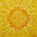 Személyre szóló mandala, Képzőművészet, Festmény, Textil, 40x40 cm. Sok éve festek ilyen különleges, személyre szóló, egyedi képeket, mandalákat. Soks..., Meska