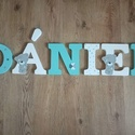 Dekorbetű,bababetű,név,felirat,dekoráció,babaszoba,gyerekszoba,hungarocell , Otthon & Lakás, Dekoráció, Betű & Név, Festett tárgyak, Mindenmás, Kézzel festett, 20 cm magas betűkből álló dekornév, az ár 1 db betűre vonatkozik. Válaszható színek..., Meska