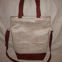 Barna-tört fehér női táska  , Táska, Válltáska, oldaltáska, Varrás, Gyönyörű barna és tört fehér-barna mintás  bútorvászonból készítettem el ezt a praktikus táskát.   ..., Meska