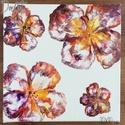 Virágok 1., Dekoráció, Otthon, lakberendezés, Kép, Falikép, Festészet, Akril festmény, vakrámára feszített vásznon. Mérete: 30X30 cm., Meska