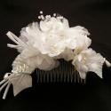 Menyasszonyi hajdísz - 1#, A hajdísz a következő anyagokból készült:  *...