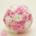 Pink-Rózsaszín gyöngyös  menyasszonyi csokor szett, Esküvő, Esküvői csokor, A rengeteg követhetetlen megrendelés miatt kérem a következőket betartani:  Amennyiben ezt a csokrot..., Meska