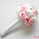 Luxus ékszercsokor, Esküvő, Esküvői csokor, Virágkötés, Ez kész van! Máris viheted ezt a szépséget!  Megrendelni sem kell...   Az esküvőd igazi fénypontja ..., Meska