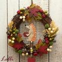 Őszi sünis koszorú, Igazi őszi erdei hangulatú kis koszorút készí...