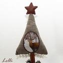 Szarvasos karácsonyi asztaldísz, Dekoráció, Otthon, lakberendezés, Ünnepi dekoráció, Asztaldísz, Szarvasos karácsonyi asztali dísz egyedi kaspóban magassága 49cm, az egyedi kaspó átmérője: 15cm  A ..., Meska