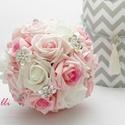 Ékköves rózsaszín örökcsokor, Esküvő, Esküvői csokor, Ez kész van! Máris viheted ezt a szépséget!  Megrendelni sem kell...   Az esküvőd igazi fénypontja l..., Meska