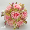 PinkGarden selyemvirág menyasszonyi örökcsokor, Esküvő, Esküvői csokor, Minőségi selyemvirágból készítettem ezt a menyasszonyicsokrot, amiben ragyogó pink rózsák, és zöld h..., Meska