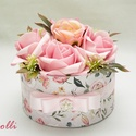 MiniBelle Virágbox - Rózsadoboz, virágdoboz, Esküvő, Otthon, lakberendezés, Asztaldísz, Esküvői dekoráció, Lepd meg anyukádat, szerettedet ezzel a kis cuki romantikus mini virágdobozzal, melybe csodaszép róz..., Meska