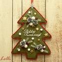 ÖrökZöld fenyő karácsonyi kopogtató - ajtódísz, Ez a kopogtató garantáltan örökzöld darab! Hi...