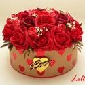 Vörös rózsás virágbox virágdoboz szerelmeseknek - nagy, Esküvő, Otthon, lakberendezés, Szerelmeseknek, Asztaldísz, Lepd meg kedvesedet ezzel a romantikus vörösrózsás virágdobozzal, melybe csodaszép vörös habrózsákbó..., Meska